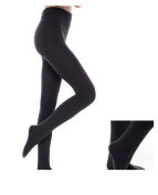 80D Black Opaque Women's Pantyhose Footed Tights