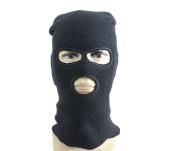 Black Winter Windproof 3 Hole Acrylic Wool Neck Warmer Hat Cap Balaclava Riding Ski Snowboard Cycling CS Face Mask Hood