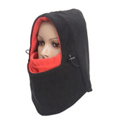 EQLEF® Double Layers Thermal Warm Hat Mask Full Face Cover Neck Warmer for Outdoors Activities