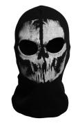 CoolChange Black ghost skull motorbike balaclava