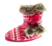 Kids Girls Novelty Slipper Boots Booties Teddy Bear Rabbit Reindeer Slippers Size UK 9-3
