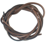 Leather Shoe Laces - Brown