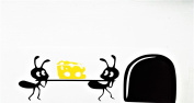 "Mouse Hole "" Ants Delivery "" Skirting Board Wall Art Sticker Vinyl Decal "" 19cm x 6cm..UKSELLINGSUPPLIERS"