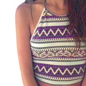 Kemilove Women Boho Tank Tops Bustier Bra Vest Crop Bralette Shirt Blouse Cami