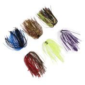 Diamondo 6 Bundles Silicone Skirts DIY Salty Rubber Jig Lures Squid Fishing Bait