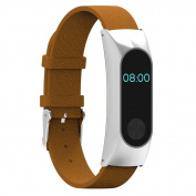 AutumnFall Replacement Wristband Band Strap + Metal Case Cover for Xiaomi Mi Band 2 Smart Watch Miband