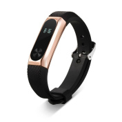 AutumnFall Silicone Wrist Blet Strap Wristband Bracelet Accessories for Xiaomi Mi Band 2 Smart Watch Miband