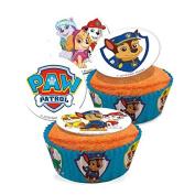 PAW PATROL edible sugar disc cake toppers - x16