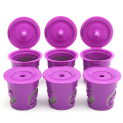 KING DO WAY 6PCS Refillable Reusable Coffee Filter Replacement for Keurig 2.0 K-Carafe£¨Violet Dolphin£©