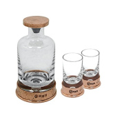 English Pewter Company 180ml Hammered Mini Decanter & Shot Glass Box Set