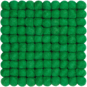 myfelt Felt Ball Coaster - French - 20 x 20 cm, Green