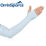 OrrinSports Unisex UV Protection Elastic Compression Arm Sleeves with Thumb Holes for Outdoor Sports