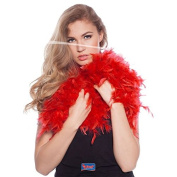 Feather Boa Red 180cm