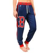 Boston Red Sox MLB Womens Cuffed Jogger Pants, Navy