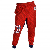 Washington Nationals MLB Baseball Mens Cuffed Jogger Pants, Red