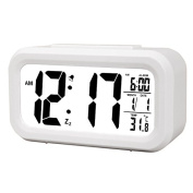 Hense Digital LCD Large Screen Alarm Clock Multi-function with Snooze Function, Calendar, Date, Week, Month And Temperature Display(F/C) Great for Children Women Elderly People HA11