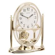 Rhythm Gold Gilt Mantel Clock w Pendulum
