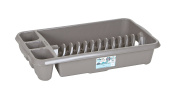 High Grade Large Plastic Dish Drainer Plate and Cutlery Rack Holder