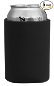 Coloful Foam Insulated Can Holder/Can Cooler/Beverage Holder/Can Chiller/Bottle Cooler,5 Pack