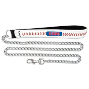 MLB Chicago Cubs Leather Chain Dog Leash