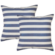 Avanzza Set of 2 Pillow Case Cushion Cover 50 x 50 cm Maritime Blue for Cushion Sofa Throw Pillow Cushion Coussin Sofa Pillow, Decorative Throw Pillow Cushion Covers In The Decor Chic Range