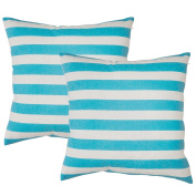 Avanzza Set of 2 Pillow Case/Cushion Cover 50 x 50 cm in turquoise Cushion Sofa Throw Pillow Cushion Coussin Sofa Pillow, Decorative Throw Pillow Cushion Covers In The Decor Chic Range