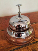 Large Counter Reception Engraved SERVICE Desk Bell Chrome plated finish Solid Brass Restaurant Hotel Bar Shop Service BS-C