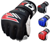 RDX Cow Hide Leather MMA Grappling Gloves Cage Fighting UFC Sparring Glove Training T1