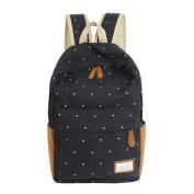 Oksale® Women Girls Dots Canvas Rucksack Bag Double-Shoulder Backpack Satchel Hiking Bagpack Bags