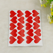 100X Red Love Heart Wall Stickers Decals Vinyl Art Transfer Valentines Day Decor