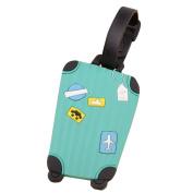 Malloom Travel Suitcase Luggage Bag Tags ID Address Holder Silicone Identifie...