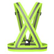 ADSRO Adjustable High Visibility Reflective Safe Vests Harness Belt Waistcoat Cycling