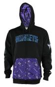 NBA Mens Signature Basics Full Zip Fleece Hoodie, Black - Team Options