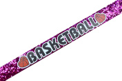 Funny Girl Designs BASKETBALL Glitter Elastic Headband for Girls Teens and Adults
