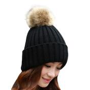 Fashion Knitting Hat Women Ladies Girls Hat Winter Ball Warm Hat Crochet Knitted Wool Pom Pom Hat