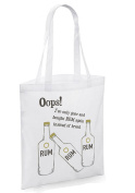 OOPS! Rum instead of bread again! Shopping reusable bag - present gift funny