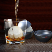 Chillz Extreme Ice Ball Moulds - Original & Best Ice Barware Tool Set - 4 Ball Capacity Mould - Makes 6.4cm Large Whiskey Ice Balls