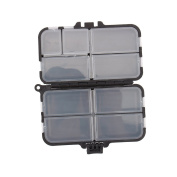 Yosoo Strong Plastic Portable Light Weight Fishing Storage Box Fishing Lure Bait Tackle Waterproof Storage Box Case with 26 Individual Compartments Black