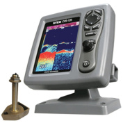 SI-TEX CVS-126 Dual Frequency Colour Echo Sounder w/600kW Thru-Hull Transducer 1700/50/200T-CX