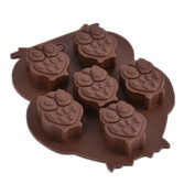 1 pcs 5-Hole Owl shaped Silicone Cake Mould Chocolate Mould DIY Ice Cube Ice Cube Tray Soap Mould , Non-Stick Cake Decorating Tool for Home Bar Kitchen