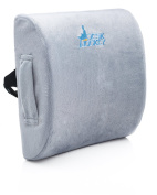 Desk Jockey Therapeutic Grade Lumbar Support Cushion For Lower Back Pain, Driving Seat