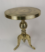 Aluminium Round Table 55cm Top Gold/Brass Industrial Finish Wine Lamp Side Bistro Table