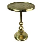 Aluminium Pedestal Table 62cm Gold/Brass Industrial Finish Side Wine Lamp Table