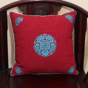 TRE Linen pillow/Classical sofa cushions/office cushion / back on the bed/ car waist cushion-E 60x60cm