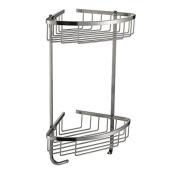 Signstek 2-Tier 304 Stainless Steel Shower Caddy Basket, Wall-Mounted, Silver