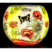 Benaya Poppy Butterfly Tealight Holder