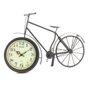 Leonardo Collection Bike Clock, Black, Medium