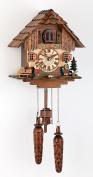 German Cuckoo Clock Quartz-movement Chalet-Style 28cm - Authentic black forest cuckoo clock by Trenkle Uhren