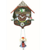 Kuckulino Black Forest Clock Black Forest House with quartz movement and cuckoo chime, incl. battery TU 2013 SQ