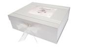 "White Cotton Cards ""Engagement Diamond Ring"" Keepsake Box, Wood, White, Large"
